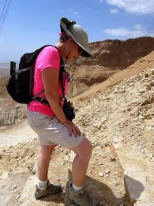 Gladys - climbing Masada